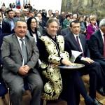 Herr Nimptsch, OB der Stadt Bonn (in der mitte), Herr Dr. Amanov, Botschafter der Republik Usbekistan (rechts), Herr Urinov, Hokim der Stadt Buchara (links),