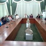 Treffen mit der Führung und Mitglieder der Usbekisch-Deutschen Freundschaftsgesellschaft in Taschkent