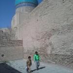 Vor dem Frauenhamam in Buchara