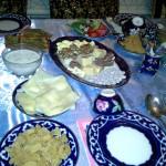 Abendessen in der Familie in Buchara