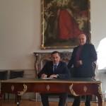 Erkin Khamraev, Generalkonsul der Republik Usbekistan und Reinhardt Limbach, Bürgermeister der Stadt Bonn