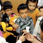 Energiesparlampen im Kindergarten Buchara