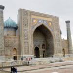 Samarkand. Auf dem Registan Platz