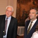 Dr. Wolf Bauer, Präsident der DUsG und Jürgen Nimptsch, OB Bonn