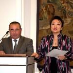 Herr Valishon Urinov, Hokim der Stadt Buchara und Frau Oksana Ten, Geschäftsführerin der Deutsch-Usbekischen Gesellschaft