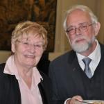Frau Hermann, ehemalige Geschäftsführerin der Deutsch-Usbekischen Gesellschaft und Herr Pacyna, Emilie Heyermann Realschule