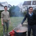 Unsere Köche Kamol und Abduvochid