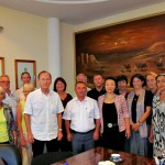Treffen mit dem Hokim (OB) der Stadt Buchara