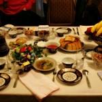 Abendessen in einer Familie in Samarkand