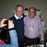 Dieter Brandenburger, Vize Präsident der Deutsch-Usbekischen Gesellschaft e.V. (links) mit dem Gastgeber Jussuf aka in Samarkand