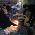 Abendessen in der Familie in Samarkand