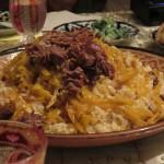 Plov. Abendessen in einer Familie in Samarkand