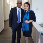 OB der Stadt Bonn Ashok Sridharan, Geschäftsführerin der Deutsch-Usbekischen Gesellschaft e.V. Oksana Ten